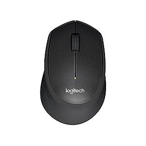 Logitech M331 Silent Plus Wireless Mouse with Nano Receiver (Black)