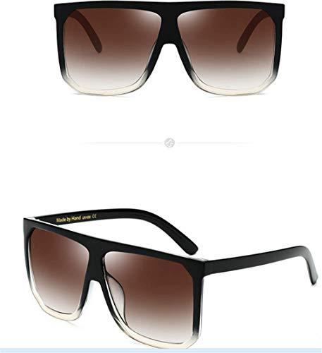 Espejo UV400 Vintage Mujer Gafas Gafas Sol Gafas Ligero Cuadrados Súper de Retro Fliegend Polarizadas Unisex Sol Lente Hombre de C4 Cxpzaw