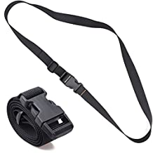 """XTACER 48""""x1"""" Molle Backpack Accessory Strap Luggage Straps Cover Strap Long Lash Strap Sleeping Bag Strap Mattress Strap with Quick Release Buckle Tied Band Fixed Belt"""