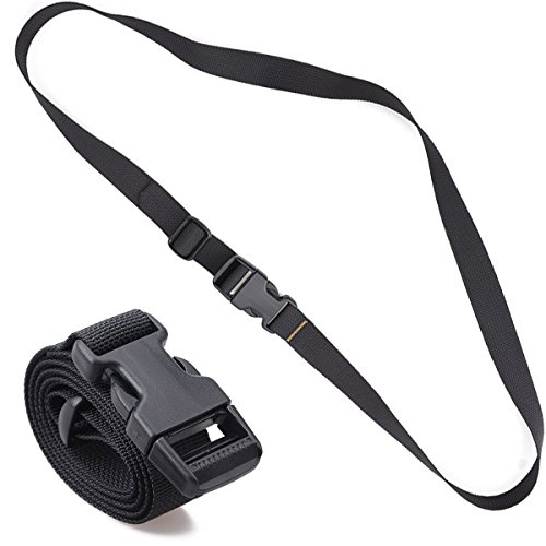 XTACER Backpack Accessory Strap Luggage Straps Cover Strap Sleeping Bag Strap with Buckle (Black - Release Buckle -