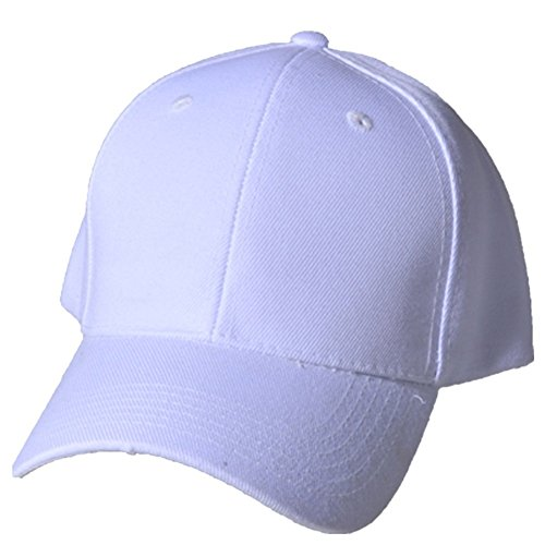 1a6cc6f7664 Galleon - QML Plain Baseball Blank Hat Solid Color Velcro Adjustable ( 30  Colors ) (WHITE)