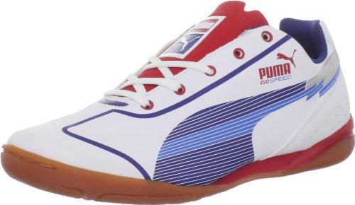 Puma Evospeed Star JR Soccer Cleat ,White/Limoges/Ribbon Red