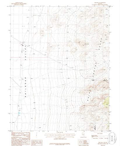 (EDS Well NV topo map, 1:24000 Scale, 7.5 X 7.5 Minute, Historical, 1985, Updated 1986, 26.7 x 22 in - Polypropylene)