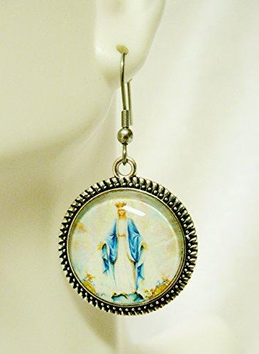 Miraculous medal earrings - AP06-009 ()