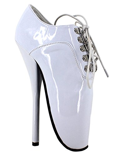 shiny shoes white stilleto boots strap 7