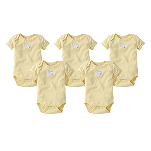 - Burt's Bees Baby Baby, 5-Pack Long & Short-Sleeve One-Piece Bodysuits, Organic Cotton, Sunshine Short, 0-3 Months