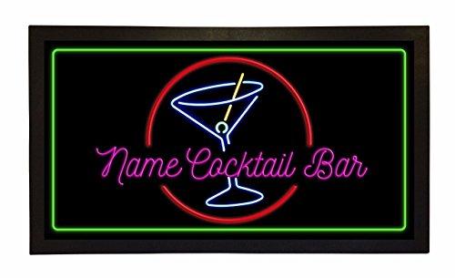 Bar Runner Your Name Cocktail Bar Drip Spill Mat Personal...
