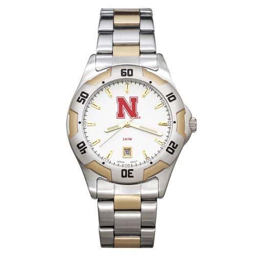 NCAA Nebraska Cornhuskers Men's All-Pro Two-Tone Watch by Logo Art