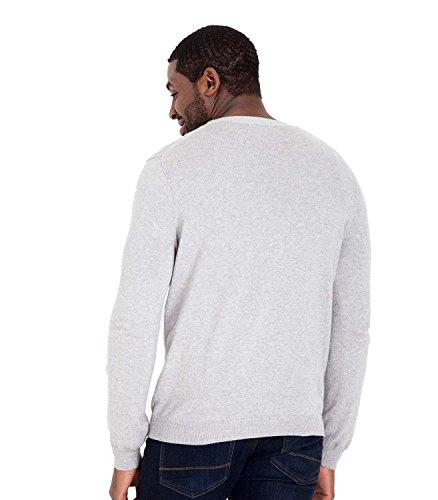 WoolOvers Cardigan mit V-Ausschnitt aus Baumwolle-Kaschmirwolle für Herren Grey Marl, M