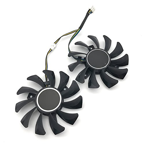 2Pcs/Lot 75mm GA81S2U DC 12V 0.38A 4Pin Dual Cooler Fan 40x40x40MM For ZOTAC Graphics Video Card Fans by Sungee (Image #3)'