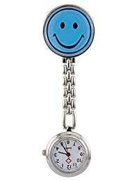 Boys and Girls Blue Sky Smiling Face Pocket Watch