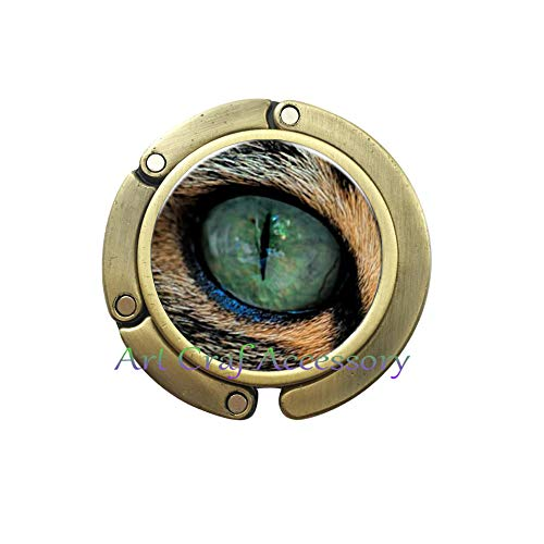 - Purse Hook&Bag Hook Green Cat Eyes Choker Purse Hook Charm Jewelry Accessories Pupil Chain Purse Hook Silver Plated Bag Hook,A0012