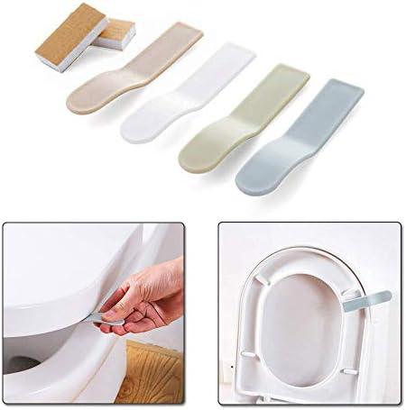 4個入りランダムカラートイレ便座取っ手無地上げ下げ手を汚さず衛生的ト清潔便利