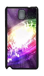 Samsung Note 3 Case Colorful Swirl PC Custom Samsung Note 3 Case Cover Black