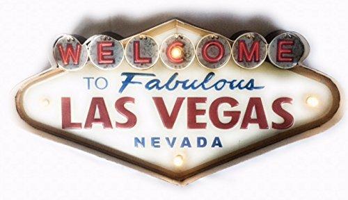 Cartel Las Vegas vintage Letrero metálico luminoso ...