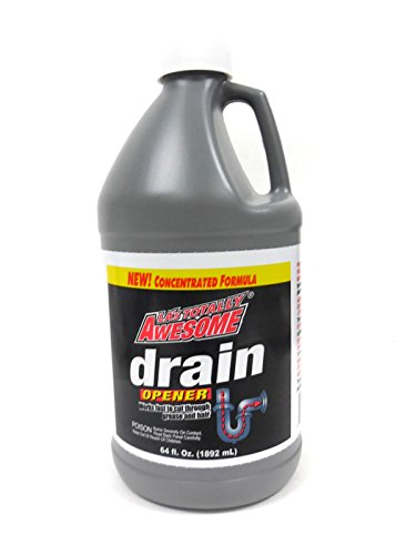 La's Totally Awesome Drain Opener & Cleaner Dissolves Hair & Grease Clogged 64 oz - 1 bottle U.S. Made (64 Oz Septic Cleaner)
