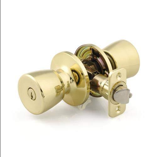 Brink's Keyed Entry Mobile Home Door Knob Bell, Polished Brass ()