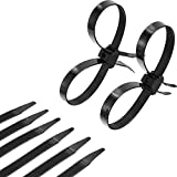 20 Pieces Disposable Tie Double Flex Zip Ties Cable