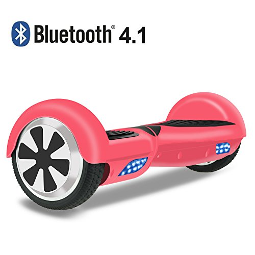 OTTO Hoverboard Two-wheel Self-balancing Scooter UL2272 Certificated 6.5'' All-terrian Aluminum Alloy Wheels,250W Dual Motor 225lbs Max Weight, Pink
