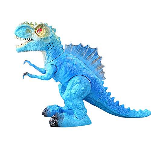 Vovomay Walking Dragon Toy Fire Breathing Water Spray Dinosaur (White) (Blue) - Blue Fire Dragon Breathing