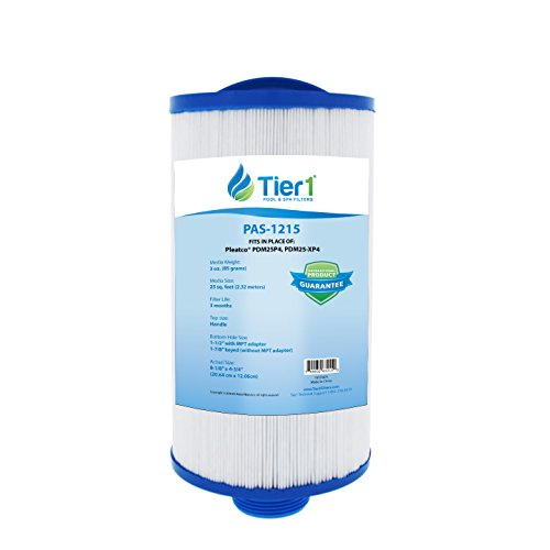 Tier1 Replacement for Dream Maker Spa filter, Pleatco PDM25 Spa Filter Cartridge