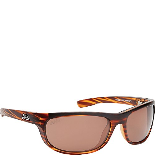 Hobie Cruz Oval Sunglasses,Satin Brown Wood Grain,64 mm