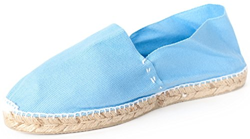 Sommerlatschen Espadrilles, Handmade, Hellblau, Unisex, SL1247 Blau (Hellblau)