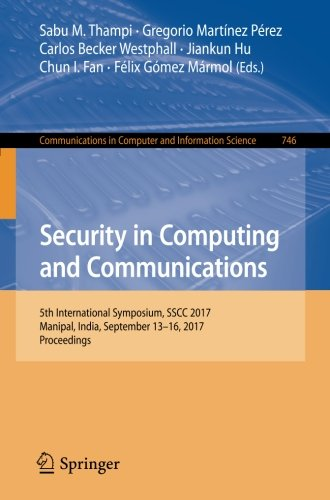 Security in Computing and Communications: 5th International Symposium