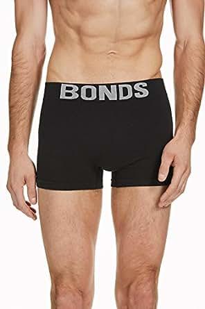 Bonds Men's Underwear Cotton Blend Seamfree Trunk, Black, S