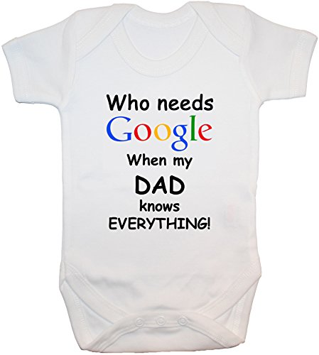 Needs Acce Google gilet Everything Nouveau M Blanc Pour né Products shirt Knows Grenouillère 24 When t My Dad grenouillère Who q44wpxBSE