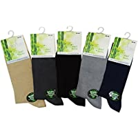 Soft Bamboo Men's Dress Socks Size 7-11 Made From Luxurious Turkish Yarn (6 to 12 Pairs)