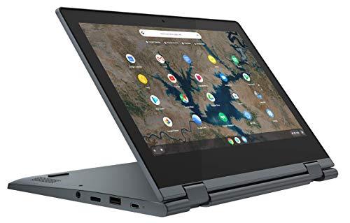 "Lenovo IdeaPad Flex 3 Chromebook - Portátil táctil convertible 11.6"" HD (Intel Celeron N4020, 8GB RAM, 128GB eMMC, Intel UHD Graphics 600, Chrome OS), Color Azul oscuro - Teclado QWERTY español"