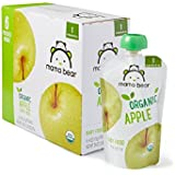 Amazon Brand - Mama Bear Organic Baby Food Pouch, Stage 1, Apple, 4 Ounce Pouch (Pack of 12)