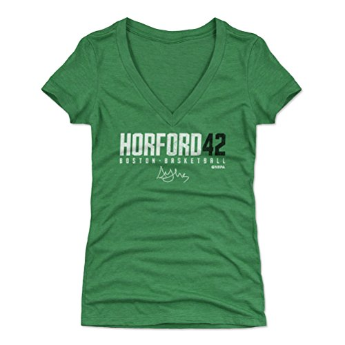 500 LEVEL Al Horford Women's V-Neck Shirt Small Heather Kelly Green - Boston Basketball Women's Apparel - Al Horford Horford42 W WHT