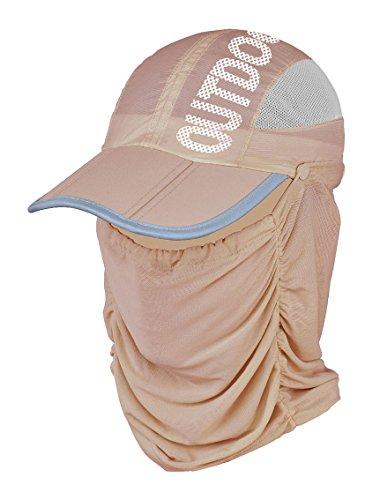 記念日簡単にゆるく(よキーよ)Yokeeyo日よけ帽子 フェイスマスク フェイスカバー ネックカバー 大判 薄地 きれいめ 顔面、首筋の日焼け対策 紫外線 UVカット 日よけ止め レディース アウトドア 折りたたみ