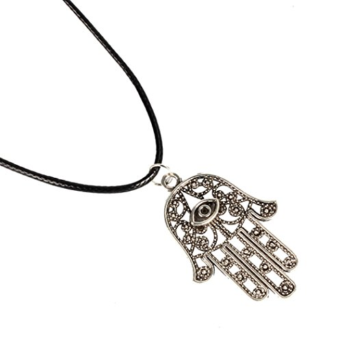 Star of David Pendant Necklace Choker Chains Charm Black Leather Cord - 7