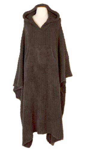 Barefoot Dreams Mini Blanket (Barefoot Dreams Cozychic Ribbed Cozy - LONG, Color: Charcoal, Size 2)