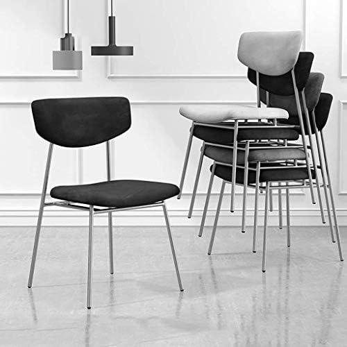 FHW Cuisine Salle à manger chaises à Bureau Chaise Salon Chaise empilable Tabouret de loisirs portable, Bleu chaise