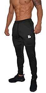 YoungLA Track Pants for Men Workout Athletic Gym Joggers Lightweight Training Sweatpants Tapered Fit 205