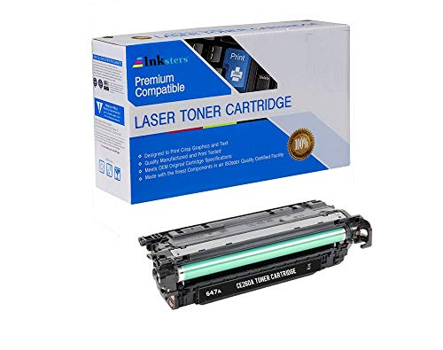 Inksters Compatible Toner Cartridge Replacement for HP 647A CE260A Black - Compatible with Color Laserjet CP4000 CP4025 CP4025DN CP4025N CP4500 CP4520 CP4525 CP4525DN CP4525N (Hp Laserjet Cp4520 Ink)