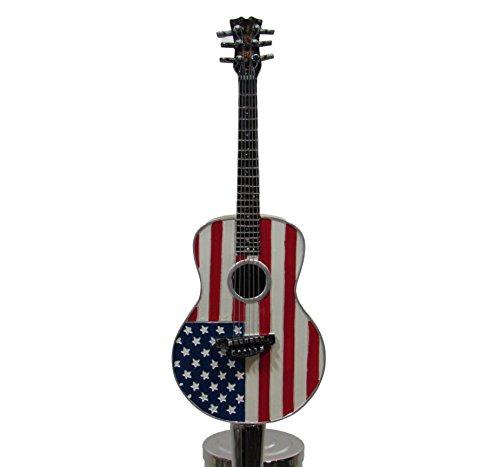 Kool Collectibles American Flag Acoustic Guitar Music Sports Bar Beer Tap Handle Kegerator Breweriana (Decor Beer Tap)