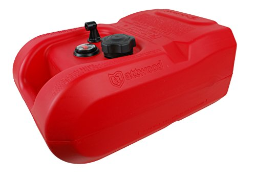 attwood 8806LPG2S Epa Certified Portable Fuel Tank with Gauge, Single Pack 6 gallon by attwood