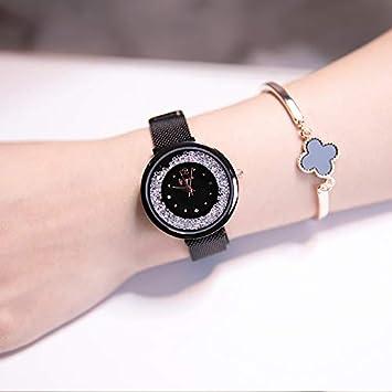 LKTGBRCVZJU relojes marea Red de tendencia de la moda con reloj de mujer ultrafino simple impermeable