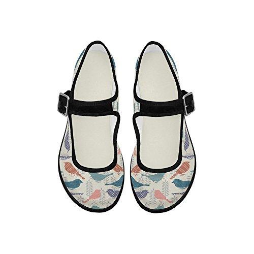 InterestPrint Womens Comfort Mary Jane Flats Casual Walking Shoes 3uLchg