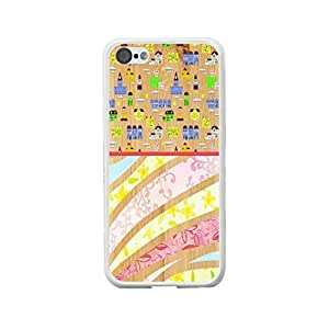 Hipster Buildings and Floral Print Hard Plastic Protective Case Cover Iphone 5c for Women (white)