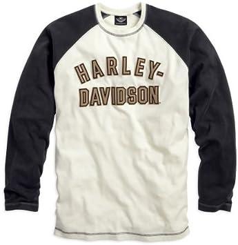 Camiseta hombre, Genuine Classics manga larga, Harley Davidson XL blanco: Amazon.es: Coche y moto