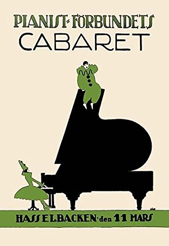 Complete Cabaret Collection - Posterazzi Poster Print Collection an Enormous Piano Is Key Cabaret. Two Clowns Complete the Picture Kage, (24 x 36), Multicolored