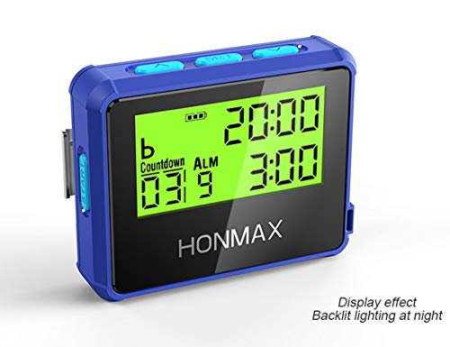 HONMAX 8200 Waterproof Interval Training Timer Stopwatch | Timers for Kitchen, HIIT, Running, Sports and Outdoor Exercise | Countdown up to 100 Hours | LED Digital Clock for Workout
