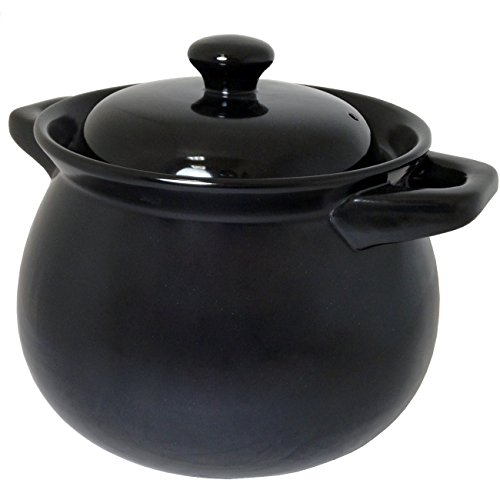 Pots Mexican Ceramic (AS-31000 Aaron Sanchez Ceramic Bean Pot 4.2-Quart, Black)