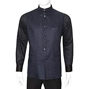 Libas Riyaz Gangji Blue Linen Vest For Men